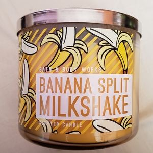 Bath & Body Works Banana Split Milkshake Candle